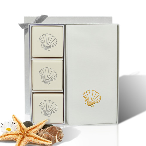 Eco-Luxury Courtesy Gift Set - Gold Scallop