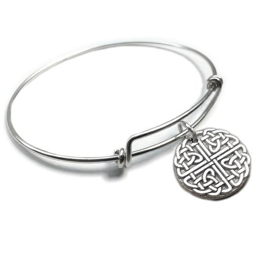 Celtic Knot Circle Forever Charm Bangle
