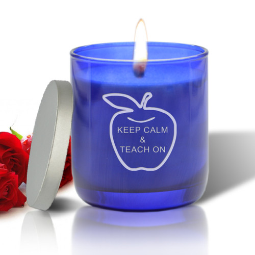 BLUE COLLECTION CANDLE: KEEP CALM AND TEACH ON