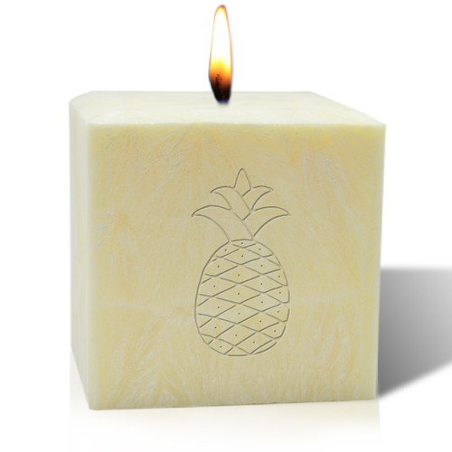 "4"" Pure Aromatherapy Palm Wax Candle - Pineapple"