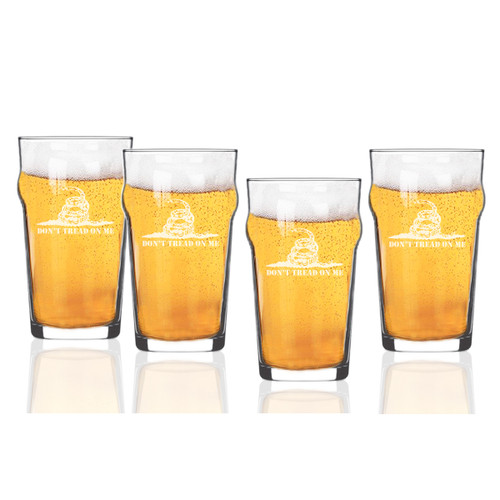 Don't Tread on Me Set of 4  Nonic/Pub Glasses  16 oz