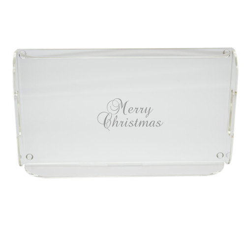 Acrylic Serving Tray - Merry Christmas
