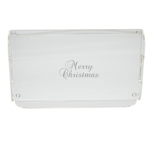 Acrylic Serving Tray - Merry Christmas
