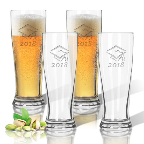 Tritan Pilsner 14 oz (Set of 4): Graduation 2018