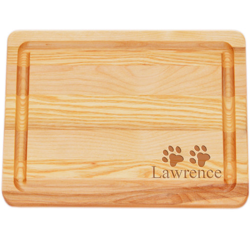 "Small Master Cutting Board 10"" X 7.5"" - Personalized Paws"