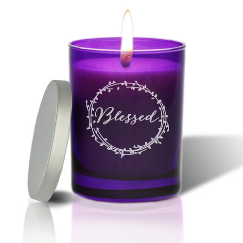 Amethyst Soy Glass Candle - Blessed