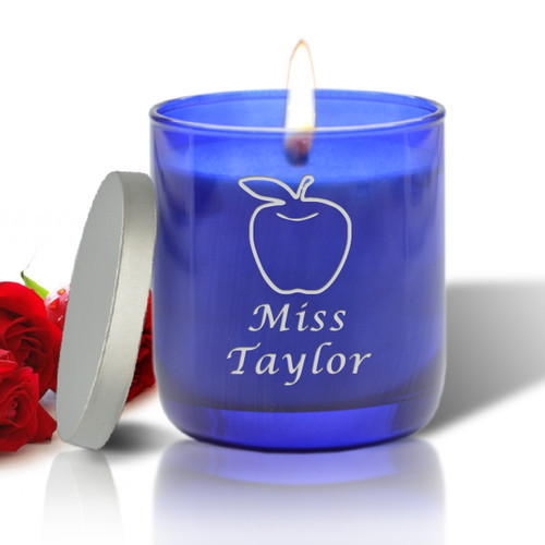 BLUE COLLECTION CANDLE: APPLE FOR TEACHER