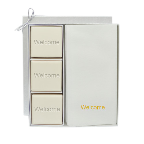 Eco-Luxury Courtesy Gift Set - Gold Welcome