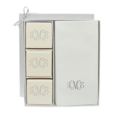 Eco-Luxury Courtesy Gift Set - Silver Monogram