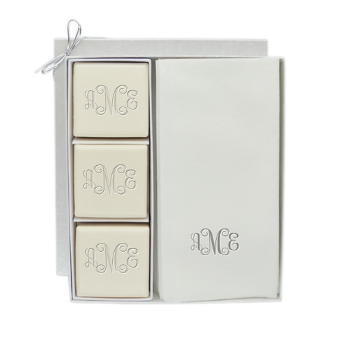 Eco-Luxury Courtesy Gift Set - Silver Monogram