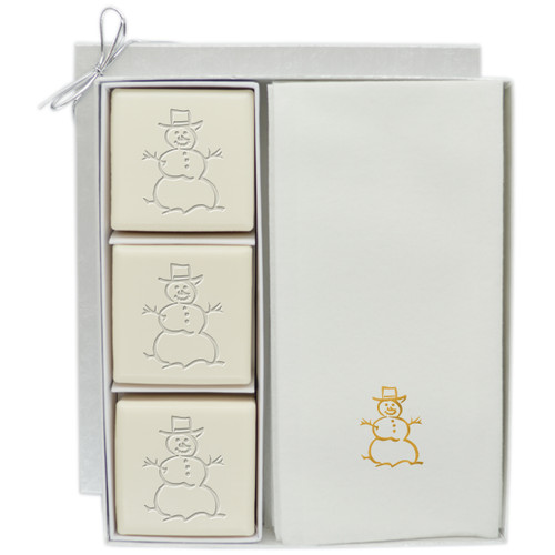 Eco-Luxury Courtesy Gift Set - Gold Snowman