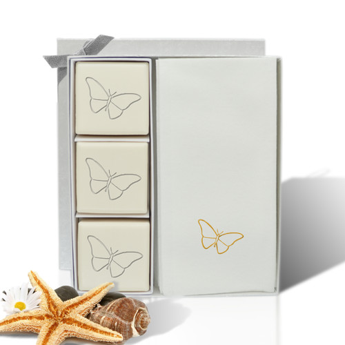 Eco-Luxury Courtesy Gift Set - Gold Butterfly