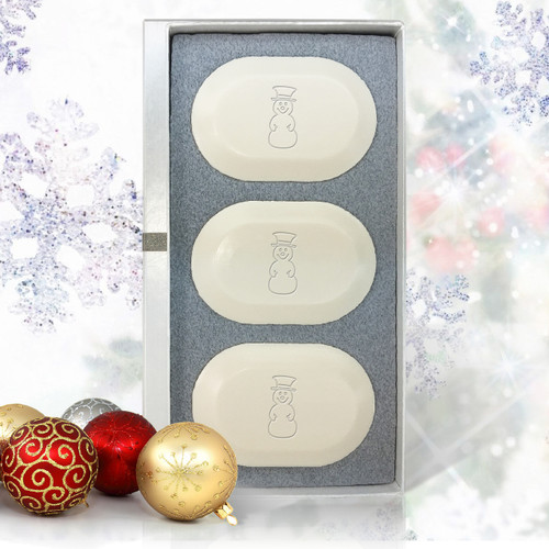 Eco-Luxury Trio - Christmas Snowmen!