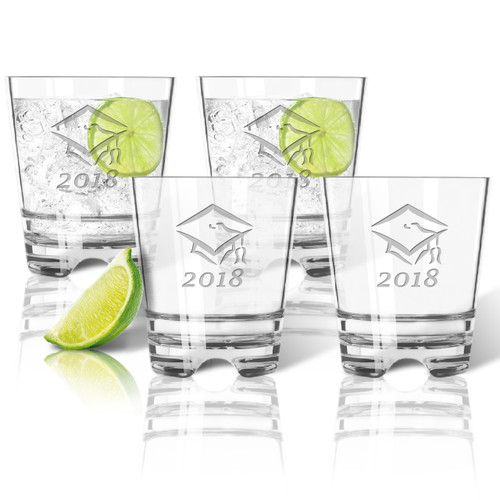 PERSONALIZED OLD FASHIONED - SET OF 4 (Unbreakable): Graduation 2018