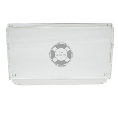 Personalized Acrylic Serving Tray - Life Preserver