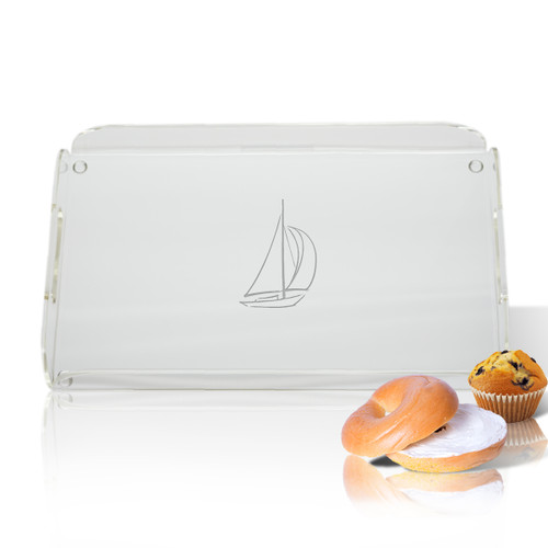 Acrylic Serving Tray - Sailboat