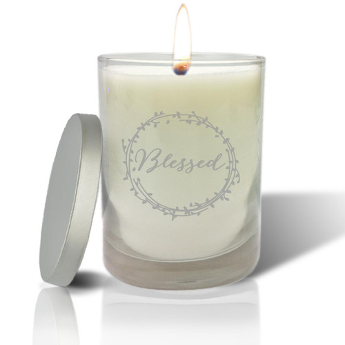 Soy Glass Candle - Blessed