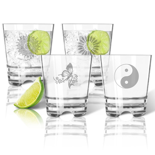 Tritan Double Old Fashioned Glasses 12oz (Set of 4) : Solstice