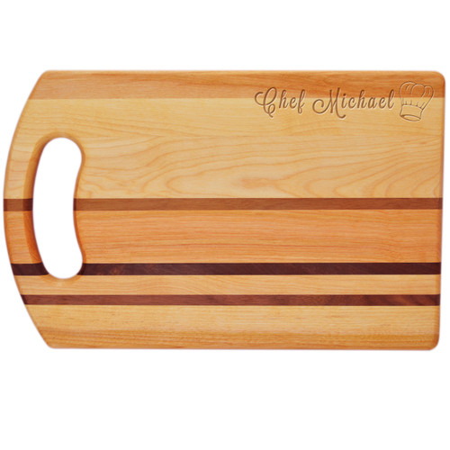 "Integrity Bread Board 14"" X 9"" - Personalized Chef Hat"