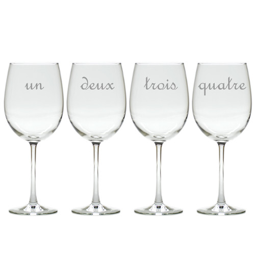 UN DEUX TROIS WINE STEMWARE - SET OF 4 (GLASS)
