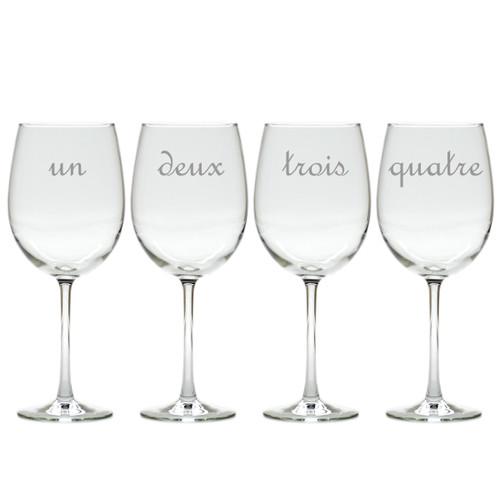 UN DEUX TROIS WINE STEMWARE - SET OF 4 (GLASS)