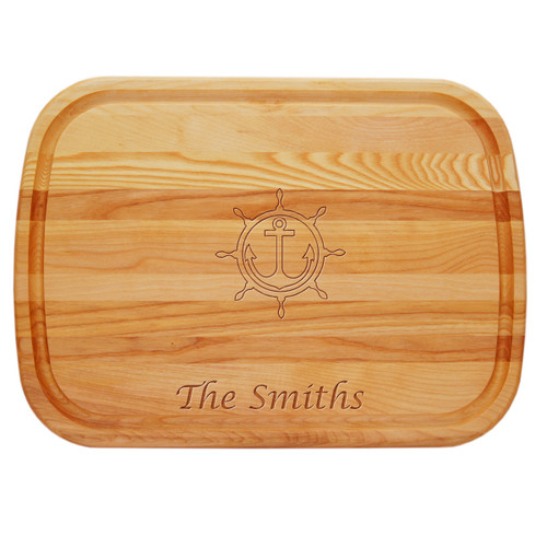 "EVERYDAY BOARD: 21"" x 15"" LARGE PERSONALIZED ANCHOR WHEEL"