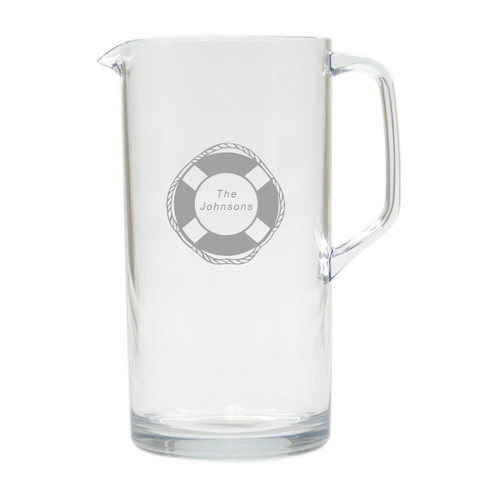 PERSONALIZED LIFE PRESERVER PITCHER  (Unbreakable)