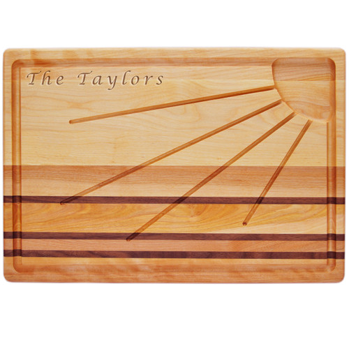 "Integrity Sunburst Carving Board 20"" X 13"" - Personalized"