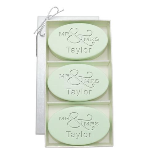 Signature Spa Trio - Green Tea & Bergamot: Personalized Mr & Mrs