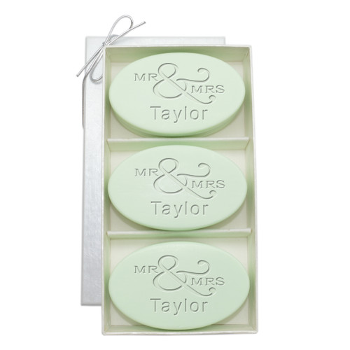 Signature Spa Trio - Green Tea & Bergamot: Personalized Mr & Mrs