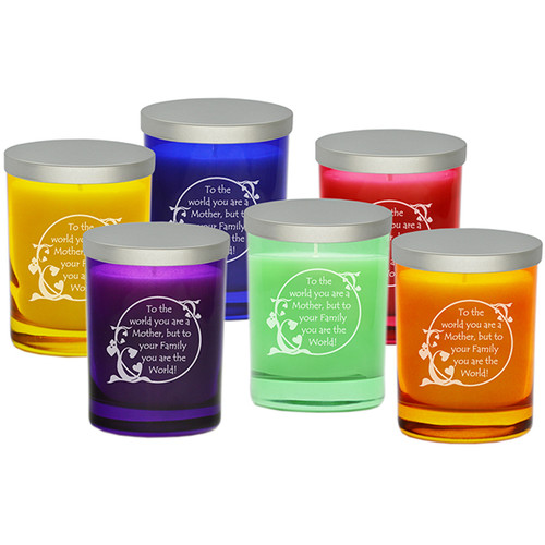 Gem Collection Soy Glass Candle - Mom's The World!