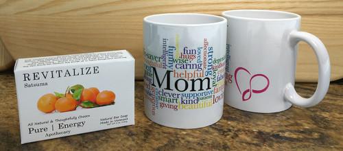 3 Case Pack Pure Energy Apothecary Satsuma soap and Mom Mug Set