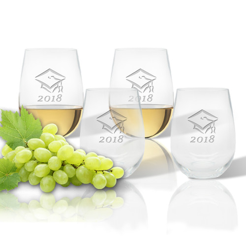 Stemless Wine Tumbler  (Set of 4): Graduation 2018