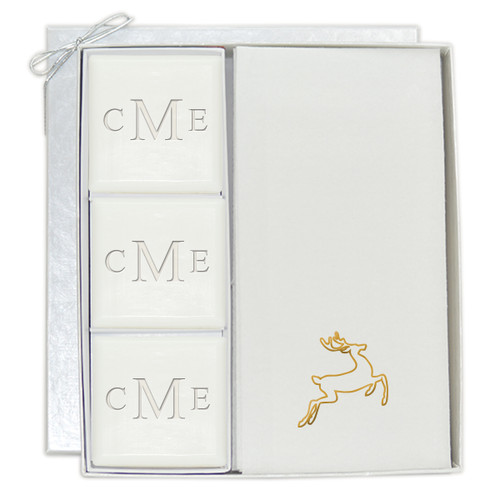 Signature Spa Courtesy Gift Set - Monogram and Gold Deer