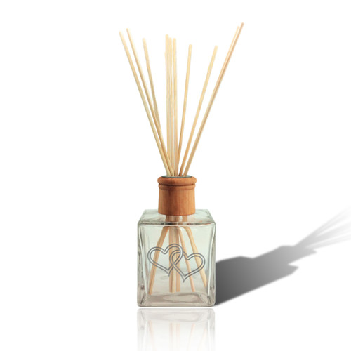 Double Heart Reed Diffuser - NO OIL