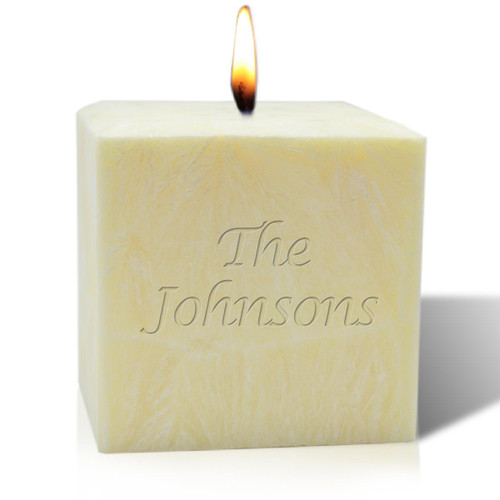 "4"" Unscented Palm Wax Candle - Name or Phrase"