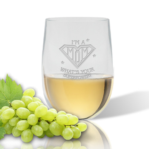 SINGLE  WINE TUMBLER(Unbreakable) - SUPER MOM