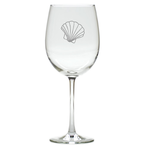 SCALLOP WINE STEMWARE - SET OF 4 (GLASS)