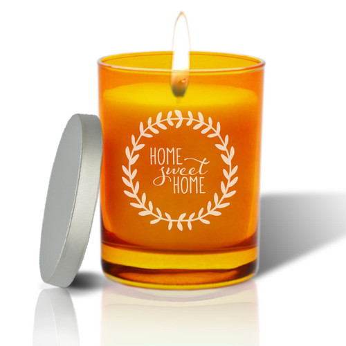 Topaz Soy Glass Candle - Home Sweet Home with Wreath