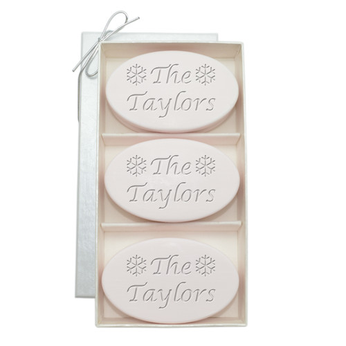 Signature Spa Trio - Satsuma: Personalized Snowflakes