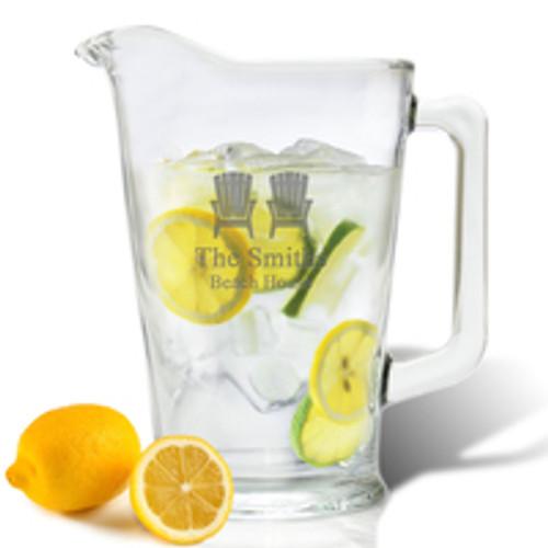 PERSONALIZED ADIRONDACK CHAIR  PITCHER  (GLASS)