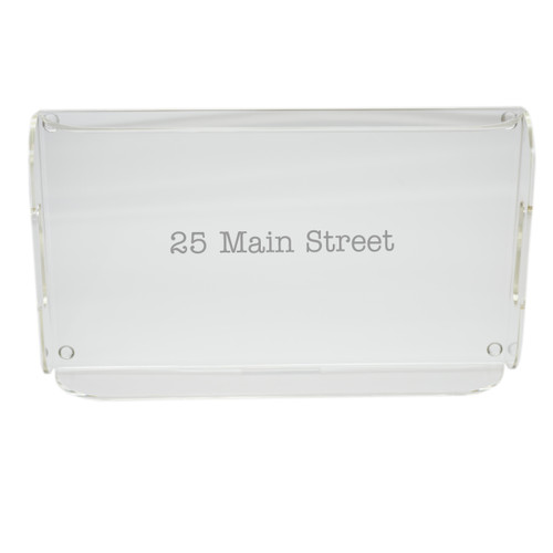 Personalized Acrylic Serving Tray - Address