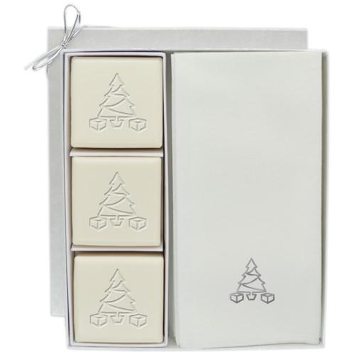 Eco-Luxury Courtesy Gift Set - Silver Christmas Tree