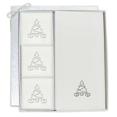 Signature Spa Courtesy Gift Set - Silver Christmas Tree