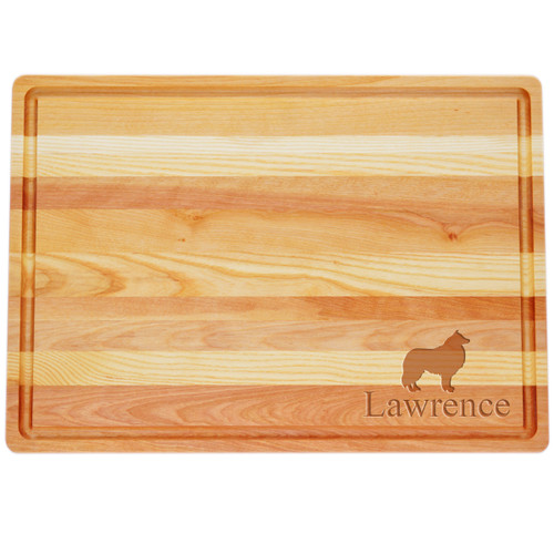 """Large Master Cutting Board 20"""" X 14.5"""" - Personalized Dog Silhouettes"""