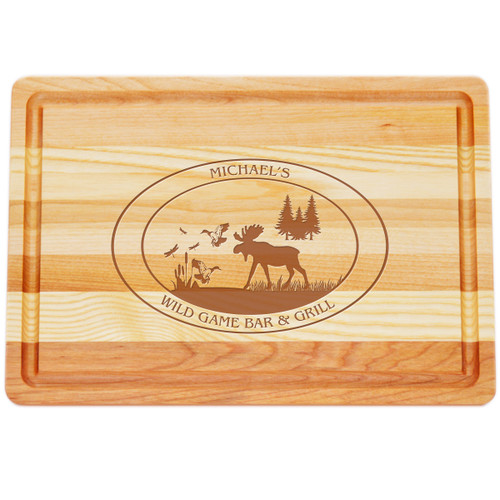 "Medium Master Cutting Boards 14.5"" X 10"" - Personalized Wildgame"