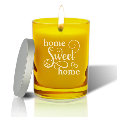 Citrine Soy Glass Candle - Home Sweet Home