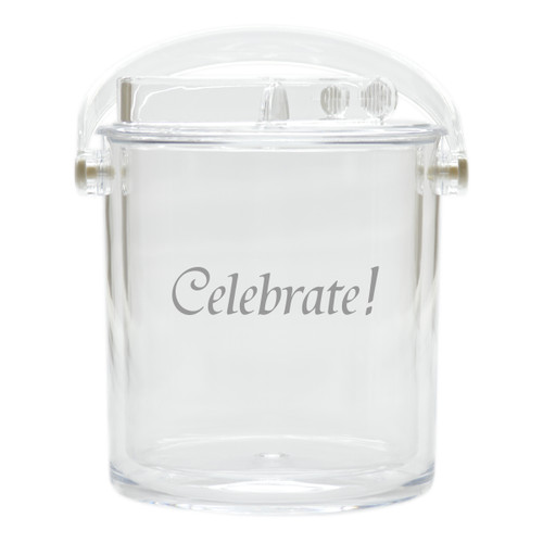 Insulated Ice Bucket with Tongs - Celebrate!