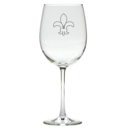 FLEUR DE LIS WINE STEMWARE - SET OF 4 (GLASS)
