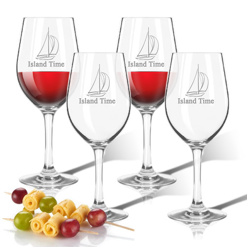 Tritan Wine Stems 12 oz (Set of 4) : Sailboat